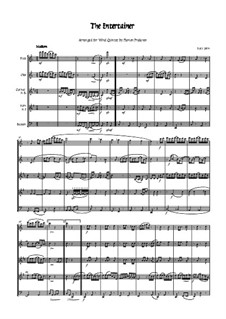 The Entertainer: For woodwind quintet - score by Scott Joplin