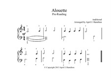 Alouette: For piano – Level A by folklore