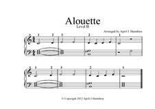 Alouette: For piano – Level B by folklore