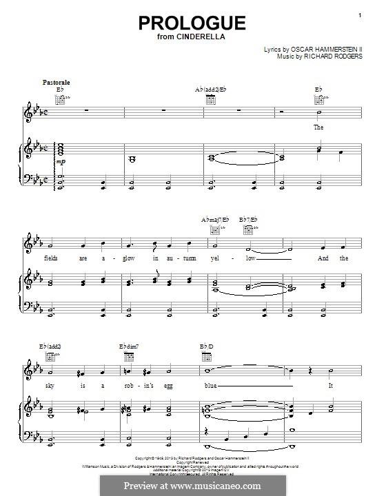 Prologue: Para vocais e piano (ou Guitarra) by Richard Rodgers