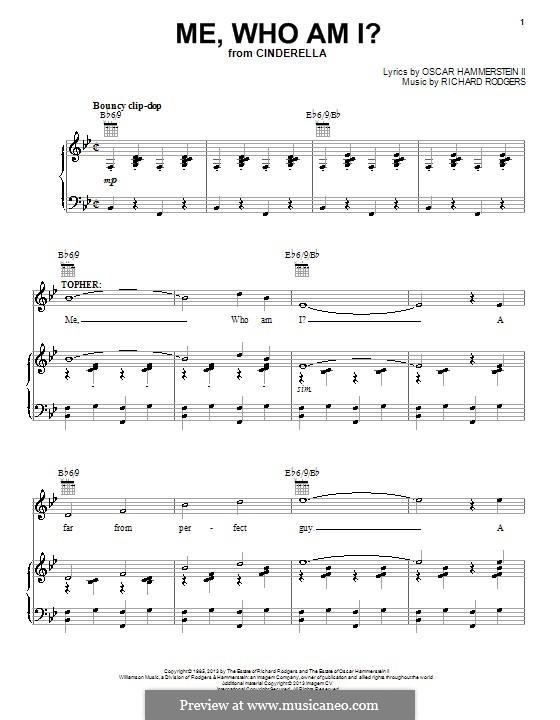 Me, Who am I?: Para vocais e piano (ou Guitarra) by Richard Rodgers