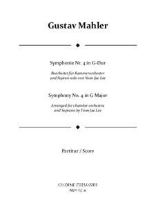 Symphony No.4 in G Major: For chamber orchestra – full score by Gustav Mahler