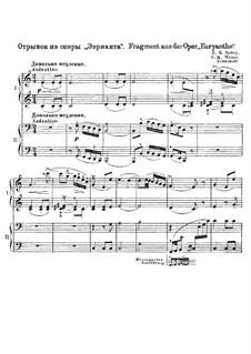 Fragments: para piano de quadro mãos by Carl Maria von Weber