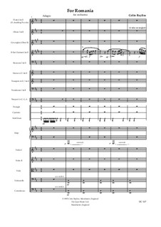 For Romania, B32: partitura completa by Colin Bayliss