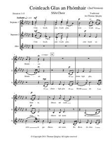 Coinleach Glas an Fhomhair: SSA choir (2nd version) by folklore