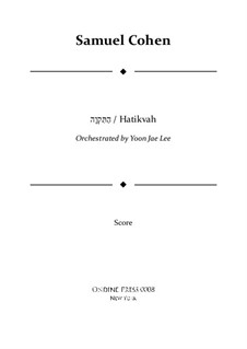 Hatikvah (With Hope): For orchestra – full score by folklore