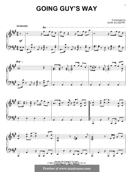 Going Guy's Way: Para Piano by Alan Silvestri
