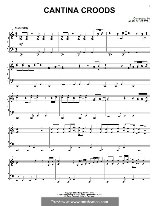 Cantina Croods: Para Piano by Alan Silvestri