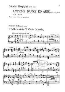 Antiche danze et arie per liuto. Suite No.1: versão para piano by Ottorino Respighi