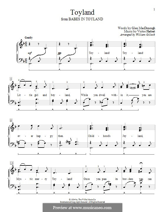 Toyland: Para Piano by Victor Herbert
