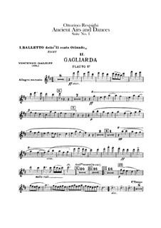 Antiche danze et arie per liuto. Suite No.1: Flute parts by Ottorino Respighi
