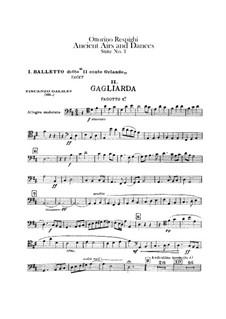 Antiche danze et arie per liuto. Suite No.1: parte fagotes by Ottorino Respighi