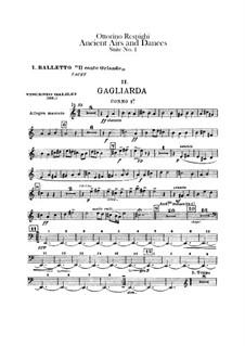 Antiche danze et arie per liuto. Suite No.1: parte trompas by Ottorino Respighi