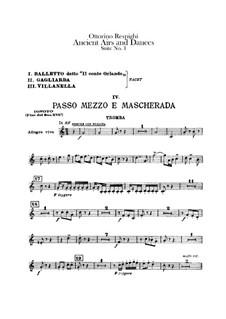 Antiche danze et arie per liuto. Suite No.1: parte trompeta by Ottorino Respighi