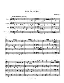 Time for the Sun: para quartetos de cordas by Jordan Grigg