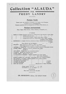 Petite mélodie pour tout instrument et piano: Petite mélodie pour tout instrument et piano by Ernst Levy