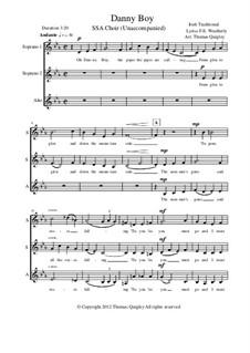 Danny Boy (Londonderry Air): SSA choir unaccompanied by folklore