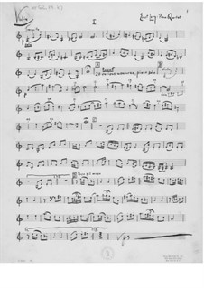 Quartet for Violin, Viola, Cello and Piano: Partes by Ernst Levy