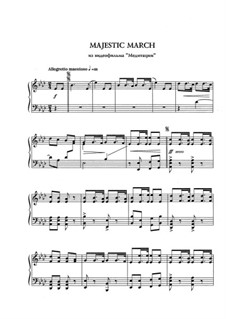 Majestic march: Para Piano by Eugen Doga