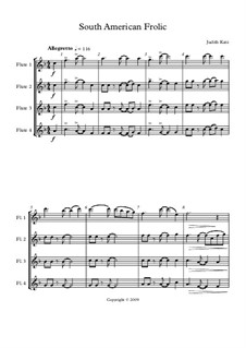 South American Frolic: partitura by Judith Katz