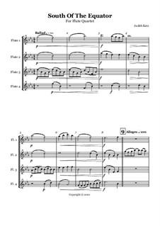 South of The Equator: partitura by Judith Katz