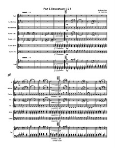Themes from Marches No.1 and No.4: For octet – full score by Edward Elgar