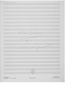 Sonata No.3 for Violin and Piano: esboços dos compositores by Ernst Levy