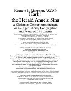 Hark! The Herald Angels Sing: Full score, parts, piano-vocal score by Felix Mendelssohn-Bartholdy