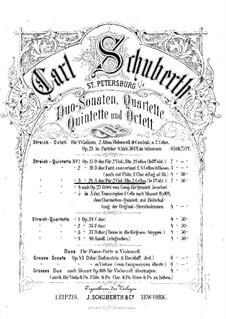 String Quintet No.3 in A Major, Op.24: violino parte I by Carl Schuberth