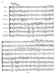Symphony No.5 in B Flat Major, D.485: movimento III by Franz Schubert