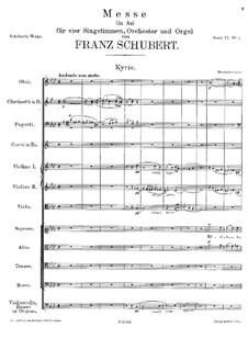 Mass No.5 in A Flat Major, D.678: Kyrie by Franz Schubert