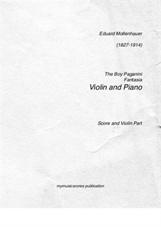 The Boy Paganini: para violino by Edward Mollenhauer