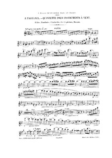 Woodwind Quintet in G Minor: partes by Paul Taffanel
