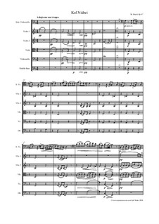 Kol Nidrei, Op.47: For solo and string orchestra by Max Bruch