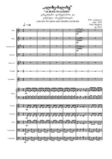 Alikhe-malikhe - Concerto for piano and orchestra, Op.55: Alikhe-malikhe - Concerto for piano and orchestra by Nino Janjgava