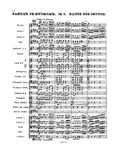 No.8 Danse des coupe: partitura completa by Pyotr Tchaikovsky