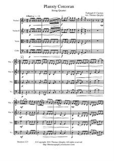 Planxty Corcoran (String Quartet): Planxty Corcoran (String Quartet) by Turlough O'Carolan