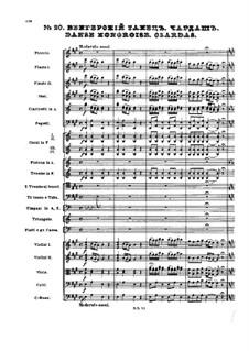 No.20 Danse hongroise. Czardas: partitura completa by Pyotr Tchaikovsky