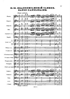 No.22 Danse napolitaine: partitura completa by Pyotr Tchaikovsky