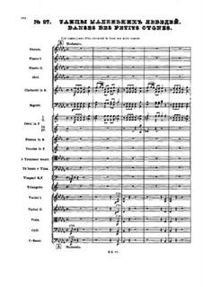 No.27 Danses des petits cygnes: partitura completa by Pyotr Tchaikovsky