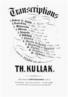 Cavatine 'Gràce, gràce' de 'Robert Diable' de Meyerbeer, Op.6 No.1: Transcription for piano by Theodor Kullak