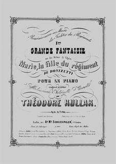 Reminiscences aus 'Marie, die Tochter des Regiments'. Premier Grande Fantaisie, Op.13: Reminiscences aus 'Marie, die Tochter des Regiments'. Premier Grande Fantaisie by Theodor Kullak
