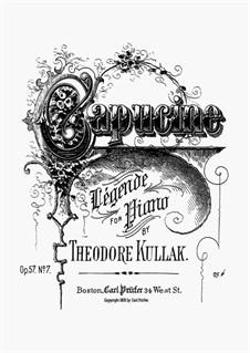 Les Fleurs Animées, Op.57: No.7 Capucine. Légende by Theodor Kullak