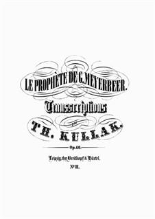 Le Prophète de G. Meyerbeer. Sept Transcriptions de Concert, Op.60: No.3 Romance (à deux voix) by Theodor Kullak