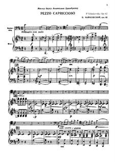Pezzo Capriccioso for Cello and Orchesrta, TH 62 Op.62: versão para violoncelo e piano by Pyotr Tchaikovsky