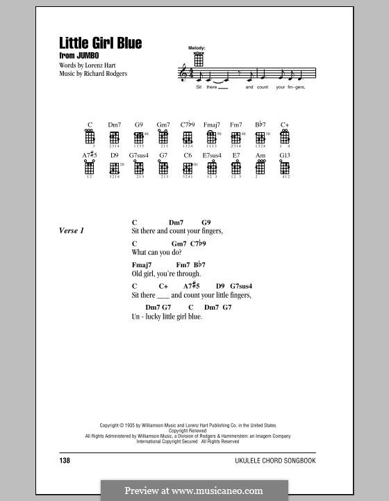 Little Girl Blue: para ukulele by Richard Rodgers
