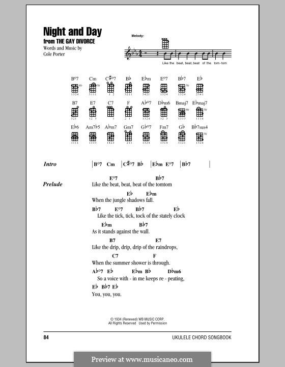 Night and Day (Frank Sinatra): para ukulele by Cole Porter