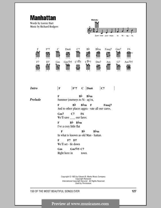 Manhattan: para ukulele by Richard Rodgers