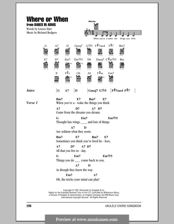 Where or When: para ukulele by Richard Rodgers