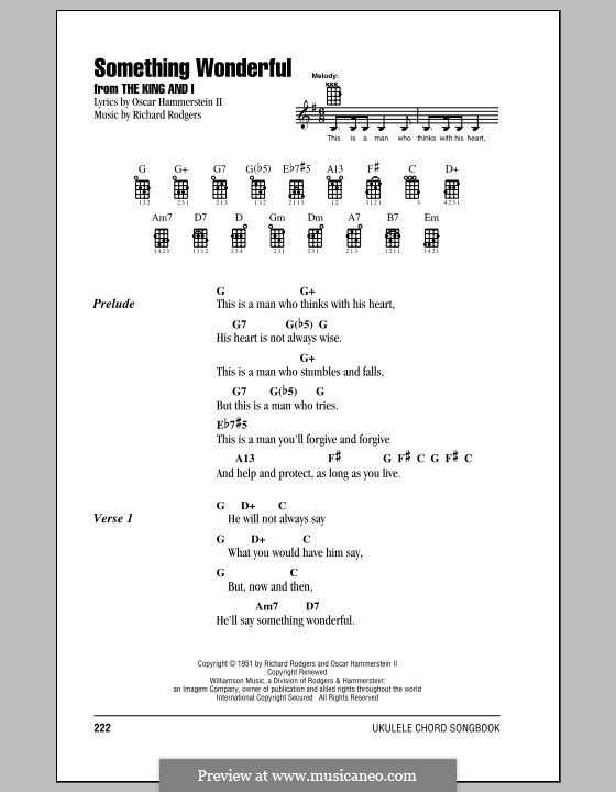 Something Wonderful (from The King And I): para ukulele by Richard Rodgers